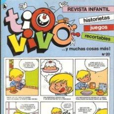 Cine: 2 TIO VIVO Nº 20-21 HISTORIETAS RECORTABLES JUEGOS NUEVO 1986 BRUGUERA. Lote 289547698