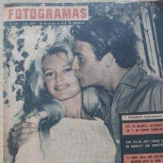 Cine: BRIGITTE BARDOT Y JACQUES CHARRIER REVISTA FOTOGRAMAS N.552 JUNIO DE 1959... Lote 289566058