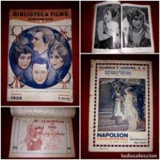 Cine: ALMANAQUE 1928 BIBLIOTECA FILMS ( UNICO Y MUY DIFICIL DE ENCONTRAR ). Lote 290559863