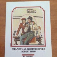 Cinema: FOLLETO DE MANO EL GOLPE. PAUL NEWMAN, ROBERT REDFORD Y ROBERT SHAW. Lote 291444318