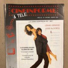 Cine: CINEINFORME & TELE N° 597/598 (1991). MATRIMONIO DE CONCENIENCIA, CYRANO DE BERERAC, LOS TIMODORES. Lote 294811738