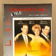 Cine: CINEINFORME & TELE N° 599/600 (1991). LA HOGUERA DE LAS VANIDADES, DESPERTARES,….. Lote 294812673