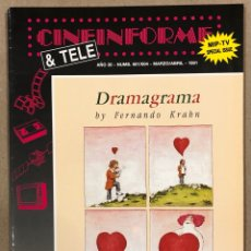 Cine: CINEINFORME & TELE N° 601/604 (1991). DRAMAGRAMA, THE DOORS, ENEMIGOS A LOVE SONG,…. Lote 294814353