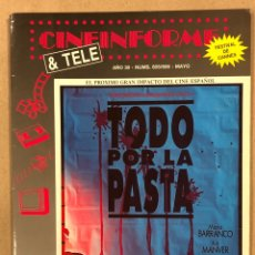 Cine: CINEINFORME & TELE N° 605/606 (1991). TODO POR LA PASTA, HOW TO BE A WOMAN AND NOT DIE IN THE ATTEMP. Lote 294815518