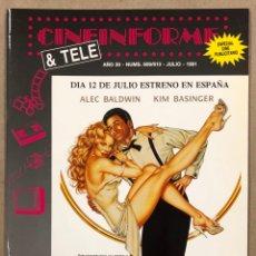 Cine: CINEINFORME & TELE N° 609/610 (1991). ELLA SIEMPRE DICE SÍ, BUSCANDO JUSTICIA,…. Lote 294816143