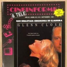 Cine: CINEINFORME & TELE N° 613/614 (1991). CITA CON VENUS, EL GRAN HALCÓN, KICKBOXER 2,…. Lote 294817823