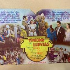 Cine: VINIERON LAS LLUVIAS. TYRONE POWER. Lote 295269633