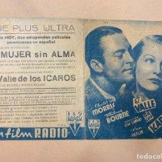 Cine: EL VALLE ICAROS. CHESTER MORRIS.. Lote 295269983