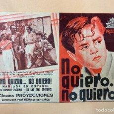 Cine: NO QUIERO... NO QUIERO!. Lote 295272408