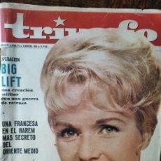Cine: TRIUNFO Nº 76 DE 1963- DEBBIE REYNOLS- LIZ TAYLOR- MARISOL- VESPA- JEAN GABIN- VILLACAÑAS- PETER O'T. Lote 295644653