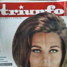 Cine: TRIUNFO Nº 85 DE 1964- THE BEATLES- MARISOL- ASESINATO KENNEDY- JAMES DEAN- STEVE MCQUEEN- RENOIR.... Lote 295649188