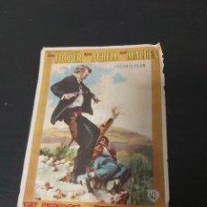 Cine: PROGRAMA CINE EL ARBOL DEL AHORCADO CINE MONTERROSA REUS 1959. Lote 295694208