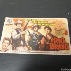 Cine: PROGRAMA RIO BRAVO CINE SALA REUS. Lote 295696528