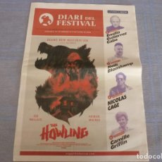 Cine: 54 FESTIVAL CINE FANTASTICO SITGES-2021-DIARIO DEL FESTIVAL 16 Y 17-10-2021 (CASTELLANO Y CATALÁN). Lote 295907353