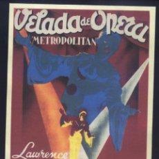 Cine: P-9668- VELADA DE OPERA (METROPOLITAN) (SOLIGÓ) (COPIA CARTEL FORMATO FOLLETO MANO) VIRGINIA BRUCE. Lote 296867983