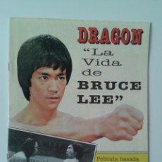 Cine: DRAGÓN LA VIDA DE BRUCE LEE. 1993 REVISTA SOBRE LA PELÍCULA BASADA EN EL LIBRO DE LINDA LEE.. Lote 296914698