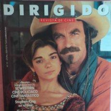 Cine: MAGAZINE DIRIGIDO 191 - TOM SELLECK / LAURA SAN GIACOMO / STEPHEN KING / PAUL SCHRAEDER. Lote 296928048