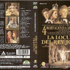 Cine: CARÁTULA DE DVD DE 'LA LOCURA DEL REY JORGE', CON NIGEL HAWTHORNE.. Lote 4297895