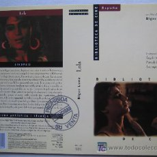 Cine: CARATULA DE VIDEO - LOLA - BIGAS LUNA - CINE ESPAÑOL ANGELA MOLINA. Lote 6491308