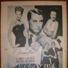 Cine: NOCHE Y DIA CON GARY GRANT. ANUNCIO-PAGINA. 1949. PRIMER PLANO: RECORTE DE PRENSA. Lote 7312288