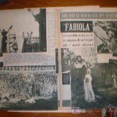 Cine: FABIOLA. 1949. PRIMER PLANO: RECORTE DE PRENSA. Lote 7358541