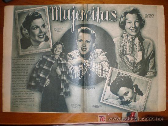 MUJERCITAS. 1949. PRIMER PLANO: RECORTE DE PRENSA (Cine - Varios)