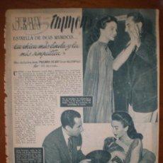 Cine: JEAN SIMMONS. 1952. PRIMER PLANO: RECORTE DE PRENSA . Lote 7396093
