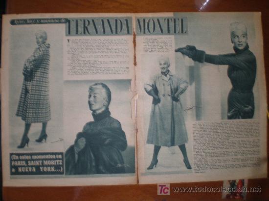 FERNANDA MONTEL. 1954. PRIMER PLANO: RECORTE DE PRENSA (Cine - Varios)