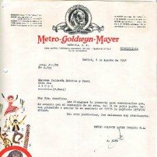Cine: CARTA COMERCIAL,DE LA METRO-GOLDWYN-MAYER-1951. Lote 7988657