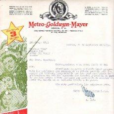 Cine: CARTA COMERCIAL METRO -GOLDWYN-MAYER 1953. Lote 7988790