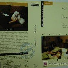 Cine: CARATULA DE VIDEO - CANICHE - BIGAS LUNA - CINE ESPAÑOL. Lote 8270257