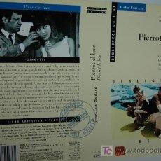 Cine: CARATULA DE VIDEO - PIERROT EL LOCO - JEAN LUC GODARD BELMONDO ANNA KARINA PIERROT LE FOU. Lote 8274135
