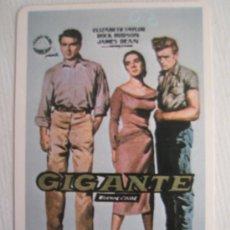 Cine: GIGANTE - JAMES DEAN - CALENDARIO DE 1986. Lote 10958170