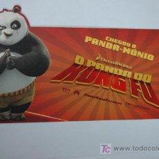 Cine: KUNG FU PANDA - TROQUELADO - INVITACION AL PREESTRENO EN PORTUGAL DREAMWORKS. Lote 12995128