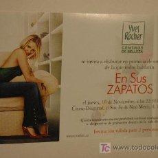 Cine: EN LOS ZAPATOS - CAMERON DIAZ - INVITACION AL PREESTRENO . Lote 13130981
