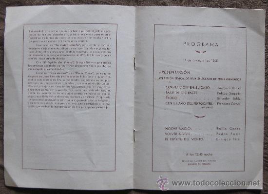 Cine: SECCIÓN DE CINEMA AMATEUR-XII CONCURSO NACIONAL DE CINE AMATEUR 1949-SALON ROSA. - Foto 2 - 21242246