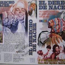 Cine: EL DERECHO DE NACER - CINE ESPAÑOL- CARATULA DE VIDEO TAMAÑO GRANDE. Lote 15976149