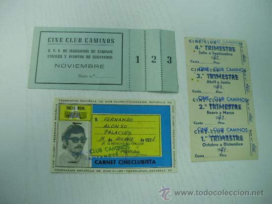 CARNET FEDERACION ESPAÑOLA DE CINE CLUBS - TICKETS, ETC (SANTANDER) (Cine - Varios)