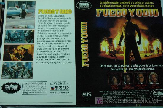 FUEGO Y ODIO - CARATULA VIDEO TAMAÑO GRANDE (Cine - Varios)