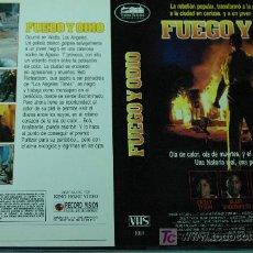 Cine: FUEGO Y ODIO - CARATULA VIDEO TAMAÑO GRANDE. Lote 17120202