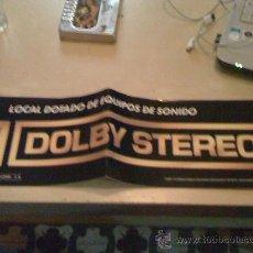 Cine: PEGATINA PARA SALAS DE CINE DE DOLBY STEREO. 16 X 60 CM.. Lote 195202715