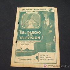 Cine: DEL RANCHO A LA TELEVISION - . Lote 19693061