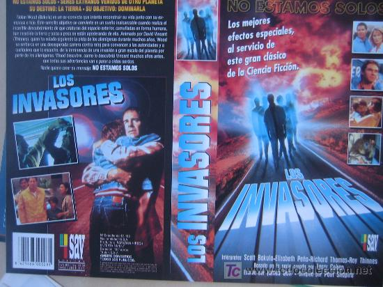LOS INVASORES - CARATULA DE VIDEO (Cine - Varios)