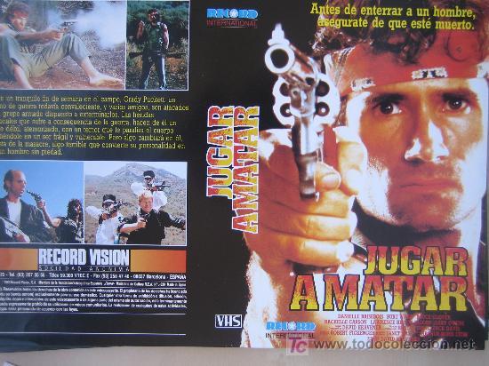 JUGAR A MATAR- CARATULA DE VIDEO TAMAÑO GRANDE (Cine - Varios)
