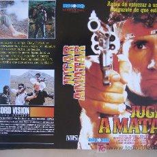 Cine: JUGAR A MATAR- CARATULA DE VIDEO TAMAÑO GRANDE. Lote 20507162