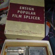 Cinéma: ANTIGUO CORTADOR REPARADOR DE PELICULAS DE CINE DE 9,5 MM ENSIGN POPULAR ENSIGN. Lote 22497706