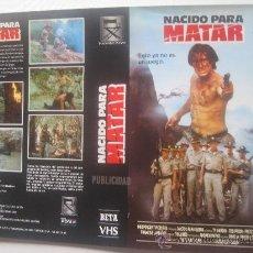 Cine: CARATULA DE VIDEO ORIGINAL TAMAÑO GRANDE - NACIDO PARA MATAR. Lote 23514300