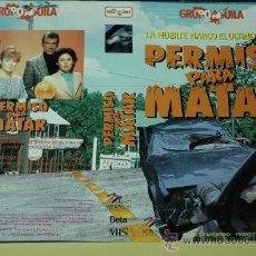 Cine: CARATULA DE VIDEO ORIGINAL TAMAÑO GRANDE - PERMISO PARA MATAR - DON MURRAY. Lote 24850677