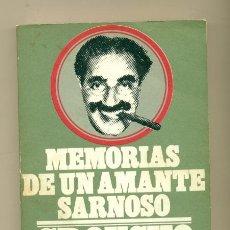 Cine: MEMORIAS DE UN AMANTE SARNOSO - GROUCHO MARX - ED- FRONTERA 1º. ED. 1974. Lote 27343376