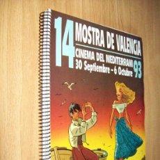 Cine: CATALAGO 14 MOSTRA DE VALENCIA CINEMA DEL MEDITERRANI 1993 - ED. GENERALITAT. Lote 25621532